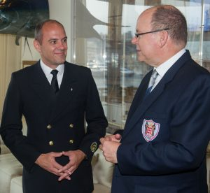 H.S.H. Prince Albert II in talks with Expedition Leader Jochen Werne